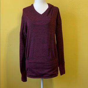 Athleta Batwing and Robin Hooded Top size XS